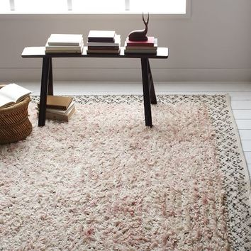 Sequin Knotted Wool Rug