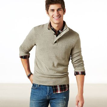 AE Mock Neck Sweater | American Eagle Outfitters