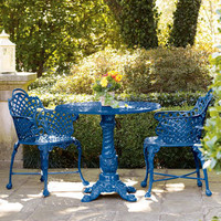 Basketweave Bistro Table & Chairs - Horchow