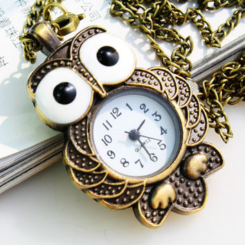 New Arrival Designer's Good Price Great Deal Stylish Trendy Gift Awesome Lovely Owl Casual Electronic Chain Watch [8863718727]