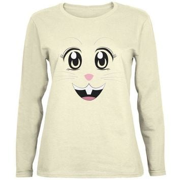 DCCKJY1 Anime Rabbit Face Usagi Natural Womens Long Sleeve T-Shirt