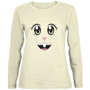 LMFCY8 Anime Rabbit Face Usagi Natural Womens Long Sleeve T-Shirt