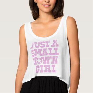 Just A Small Town Girl Basic Tank Top