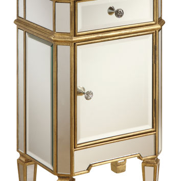 Gold Trim Mirrored Cabinet