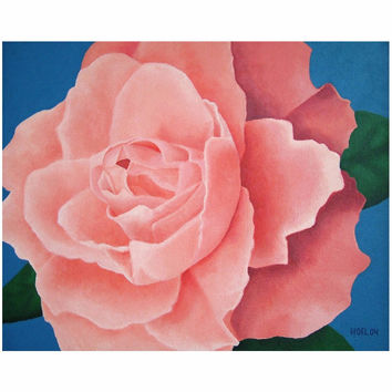 Every Rose - Canvas Mini of Floral Acrylic Paint Fine Art