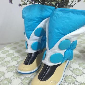 Popular DMMD Dramatical Murder Seragaki Aoba Cosplay Costume Blue Boots Shoes Covers