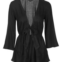 Knot Front Playsuit - Clothing