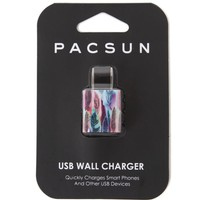 PacSun Boho Feather Wall Charger - Womens Scarves - Multi - One