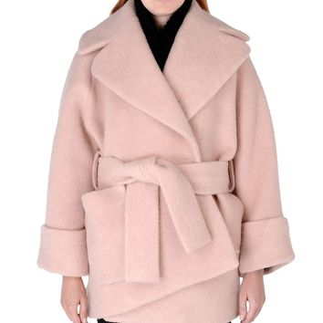Carven Oversized Cocoon Coat - Light Pink from ShopBAZAAR | OH