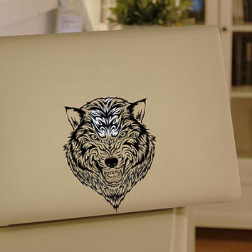 wolf - macbook decal mac pro decals macbook retina decal cover skin macbook decals sticker Laptop macbook air decal sticker