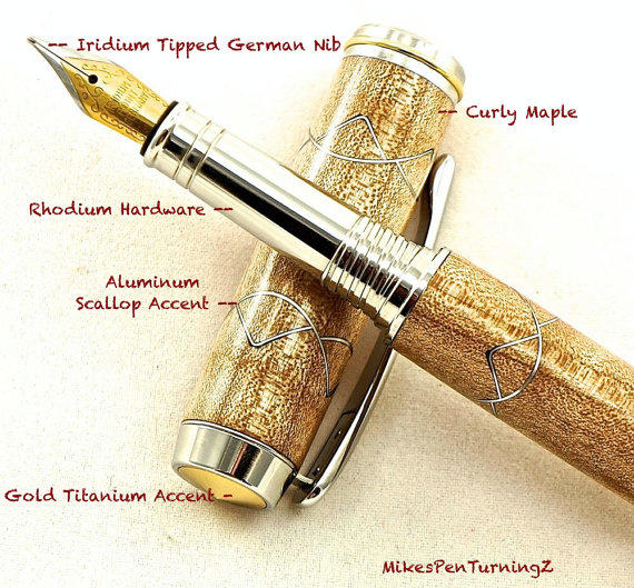 custom pens how to add gold