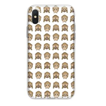 WHITE MONKEY EMOJI CUSTOM IPHONE CASE