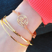 PBP Pi Beta Phi Word Disc Cord Bracelet