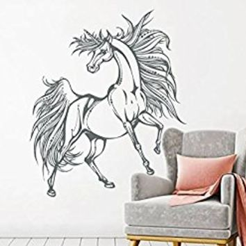 Unicorn Wall Decals Horse Wall Decal Unicorn Vinyl Decal Boho Style Home Decor Horse Nursery Bedroom Decor Unicorn Wall Modern Decal S122