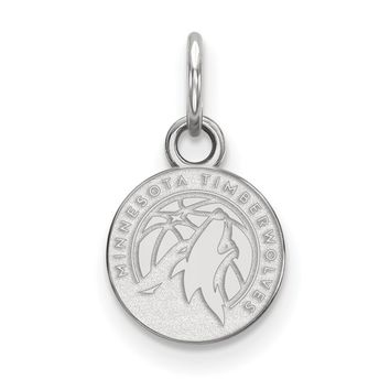 NBA Minnesota Timberwolves Sterling Silver X-Small Disc Necklace