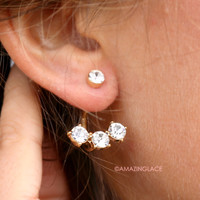 Say It Out Loud Rhinestone Ear Cuffs