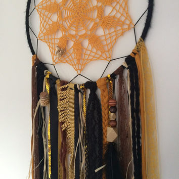 Large Black, Gold and Brown dreamcatcher