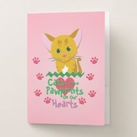 Cats Leave Pawprints Pocket Folder