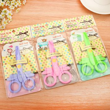 Free Shipping DIY Cute Kawaii Cartoon Dragonfly Plastic Scissors For Paper Scrapbooking Home Decoration Photo Album Diary 6904