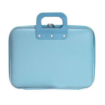 Sky Blue Faux Leather Notebook Case for Men & Women, 14 Inche Laptop