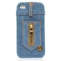 Blue Jean IPhone4/4S Case-Zipper