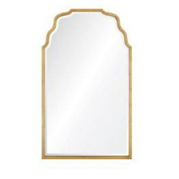 Distressed Gold Leaf Iron Mirror