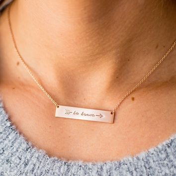 Be Brave Bar Necklace - 3 Options