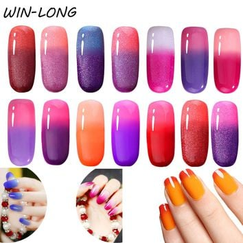 7ml Mood Temperature Change Nail Gel Polish 38 Colors Thermal Color Changing UV/LED Lamp Need Gel Varnish Nail Polish