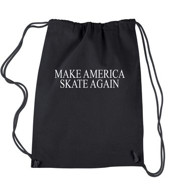 Make America Skate Again  Drawstring Backpack
