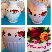 Royal alberts old country roses fluted pitcher