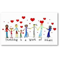 Teaching is a Work of Heart Info Cards Business Card from Zazzle.com