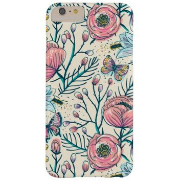 Vintage Rose Garden Flower Pattern Barely There iPhone 6 Plus Case