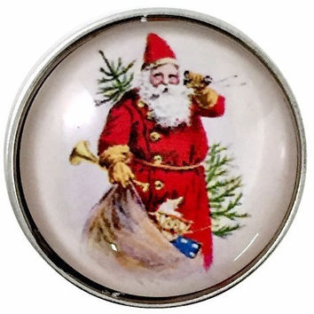 Old World Santa Snap 20mm for Snap Jewelry