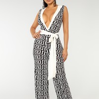 You Always Ruin You Jumpsuit - Black/Ivory