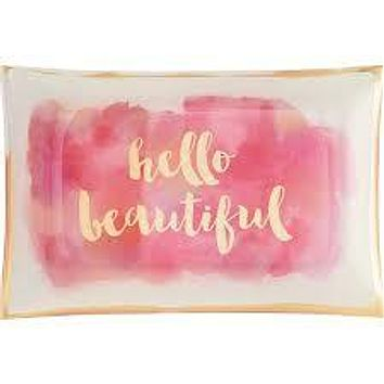 WASTE NOT PAPER HELLO BEAUTIFUL TRINKET TRAY