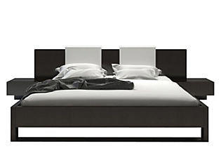 One Kings Lane - Mix in Some Modern - Monroe Bed & Nightstands, Wenge