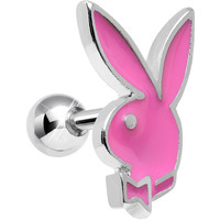 Officially Licensed Pink Playboy Bunny Tragus Cartilage Earring