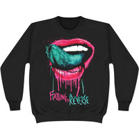 Falling In Reverse Men's  Lips Sweatshirt Black