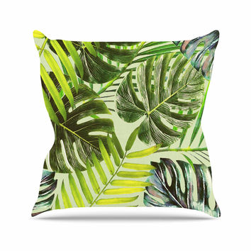 "Alison Coxon ""Jungle Green"" Green Yellow Throw Pillow"