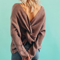 Intertwined Lavender Sweater