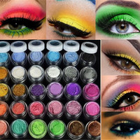 30 Colors Eye Shadow Powder pigment Colorful Makeup Mineral Eyeshadow Pigment set Makeup tools cosmetic 2017  Sale