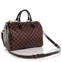 Speedy Bandouliere Style Damier 30 cm Canvas Crossbody Handbag for Women Perfect for Daily Uses