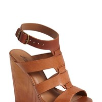 "Women's Lucky Brand 'Roselyn' Leather Caged Platform Sandal, 5"" heel"