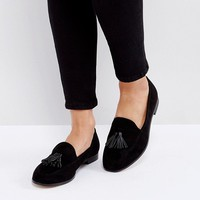 London Rebel Flat Tassle LoaferS at asos.com