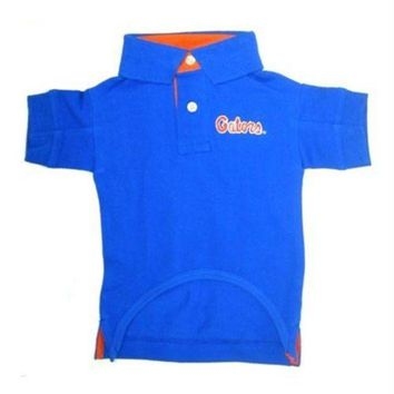 auguau Florida Gators Dog Polo Shirt