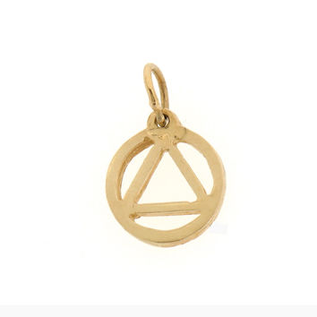 14K GOLD ALCOHOLICS ANONYMOUS CHARM #6502