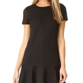 Textured Knit Shift Dress
