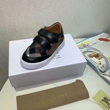 Burberry Girls Boys shoes Children boots Baby Sandle Toddler Kids Child Fashion Casual Sneakers Sport Shoes