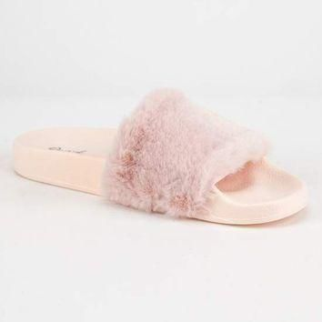 QUPID Faux Fur Womens Sandals | Sandals