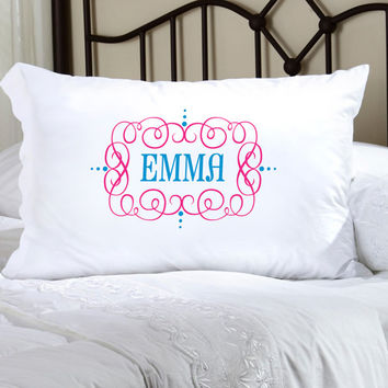Felicity Glamour Girl Pillow Case - Turquoise/Pink